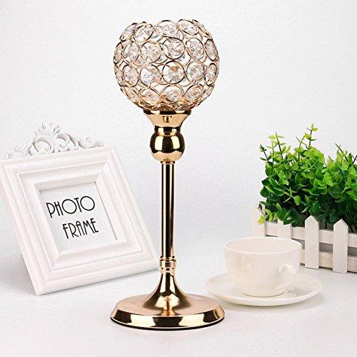 Golden modernes Crystal Laterne-Home Dekoration, mamum Gold MODERNES Crystal Laterne Kerze Becherhalter für Valentinstag Esszimmer, S, Size S-L
