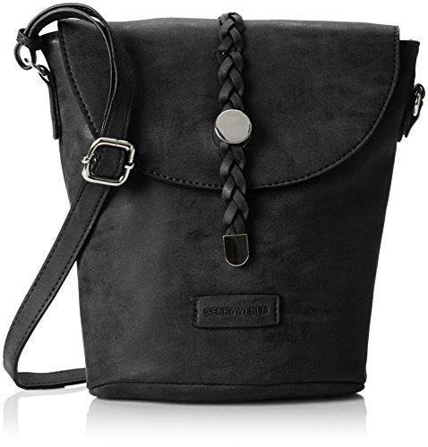 GERRY WEBER Damen Braided Ii Shoulderbag Svf Schultertasche, 10x22x24 cm Schwarz (Black)