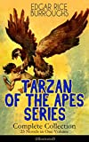 Image de TARZAN OF THE APES SERIES - Complete Collection: 25 Novels in One Volume (Illustrated): The Return of Tarzan, The Beasts of Tarzan, The Son of Tarzan,