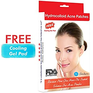Hydrocolloid Patches for Acne | Treatment for Spot Pimples Blemishes Blackheads | Targeted Patch for All | Overnight Treatment For Acne Spots | Transparent Patches | Free Cooling Gel Pad (72 Patches)