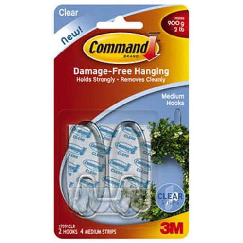 command-medium-hooks-with-strips-clear-pack-of-1