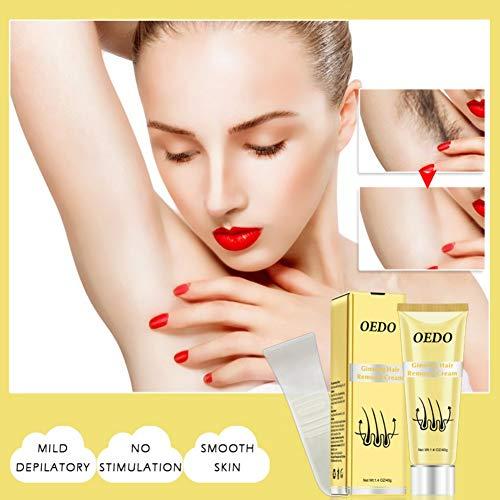 Cocohot Enthaarungscreme, Ginseng Enthaarungscreme Schmerzlose Haarentfernung, Macht die Haut Weich, Glatt und Seidig, für Männer und Frauen