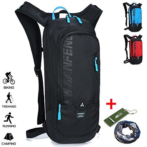 Imagen de  impermeable para correr en bicicleta senderismo ciclismo de montaña esquí de snowboard,  transpirable para deportes al aire libre camping / 10l negro