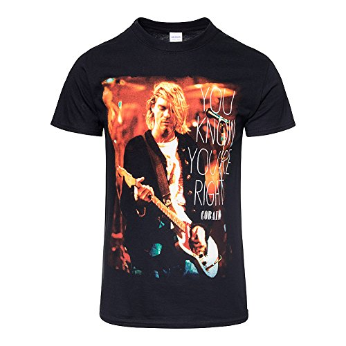 Kurt Cobain Nirvana oficial derecho Rock Tee Camiseta Ropa para...