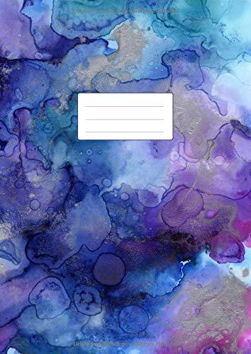 Notizheft DIN A4 Liniert: 110 linierte Seiten ohne Rand   Lineatur 21 Notizbuch   Ideal als Journal, Tagebuch, Schulheft, Collegeblock, Heft für Notizen   Soft Cover Buch   Aquarell - Seite Rand