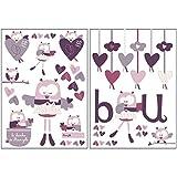 Stickers muraux décoratifs Mam'zelle Bou - Sauthon