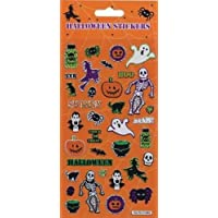 Missy Moo Halloween Large Re-Usable Foiled Sticker Sheet - Ghosts, Skeletons etc