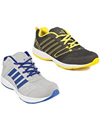 Redon Men's Pack Of 2 Sports Running Shoes (Running Shoes, Jogging Shoes, Gym Shoes, Walking Shoes) - B074HHJJJ9