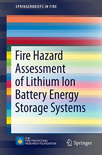 Fire Hazard Assessment of Lithium Ion Battery Energy Storage Systems (SpringerBriefs in Fire)
