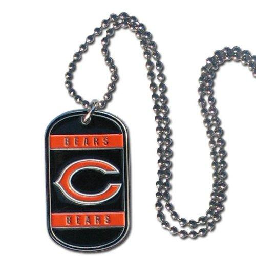 Siskiyou NFL Dog Tag Halskette, Herren Damen Mädchen Unisex Jungen, Chicago Bears, 36-Inch