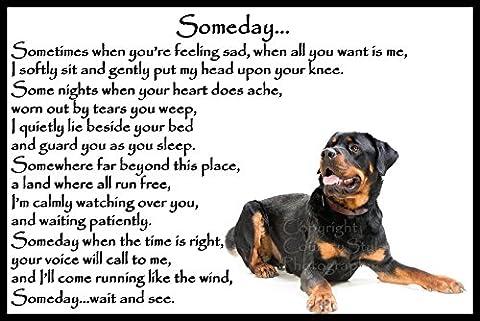Rottweiler dog bereavement pet loss Flexible Fridge Magnet - Someday
