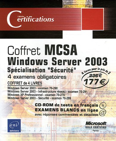 Pack en 4 volumes : MCSA Windows Server 2003 : Spécialisation