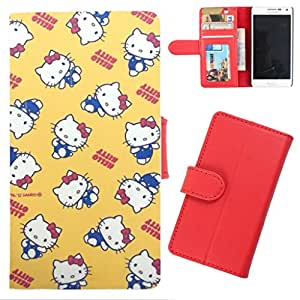 DooDa - For Micromax Knight 2 E471 PU Leather Designer Fashionable Fancy Wallet Flip Case Cover Pouch With Card, ID & Cash Slots And Smooth Inner Velvet With Strong Magnetic Lock