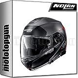 NOLAN CASCO MOTO MODULARE N100-5 PLUS DISTINCTIVE FLAT LAVA GRIGIO 024 TG. XS