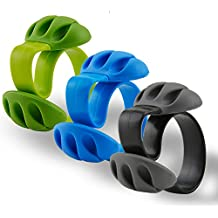 Rancco® 3 Paquetes de escritorio Clip de Cable sistema de gestión de Cable, Triple ranuras escritorio organizador de cables cable cargador Soporte para teléfono/TV/ordenador/oficina en casa
