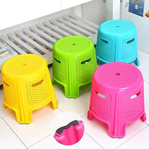 AG Startseite Stuhl Hocker Klappstuhl-Runde Kunststoff Stapelhocker, kleine Tritthocker Stuhl, rutschfeste Dusche Seatini Stuhl für Wohnzimmer Schlafzimmer Bad und Küche,Grün,