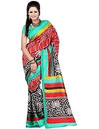 B4U FASHION Art Silk Saree With Blouse Piece (N1JESSICAARTSILK_Red_Free Size)