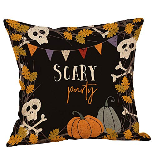 Ears Halloween Home Decor Halloween Kissenbezüge Leinen Sofa Kürbis Geister Kissenbezug Home Decor