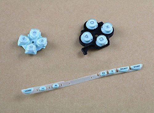 Ersatzknöpfe Ersatz Full R L Tasten (Oberfläche in Richtung Kreuz Volumen Button Reparatur Teil für Sony PSP 2000(Light Blau)