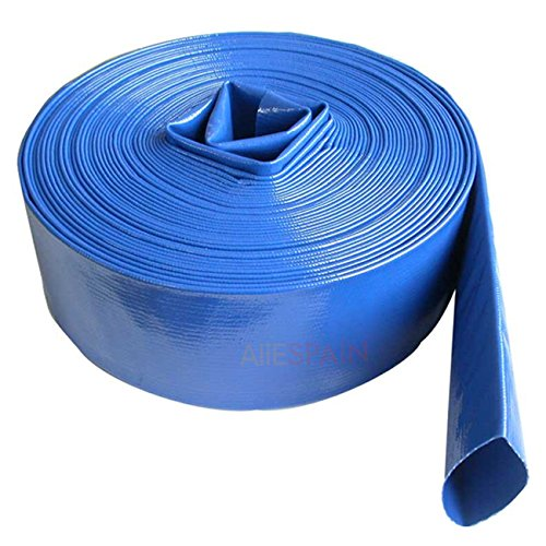"Tuberia PVC Layflat Manguera PLANA. Manguera para bomba descarga de agua y riego agricola. Medida 2"" Diámetro interior 52mm Espesor 1,35 mm. Flat hose 100 metros"