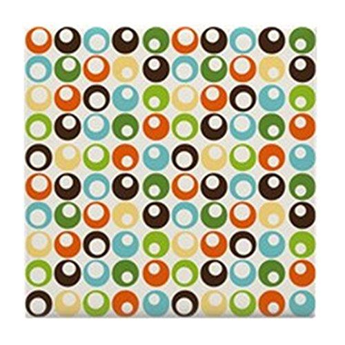 CafePress–Retro Mod Abstrakt Kreise–Tile Untersetzer, Drink Untersetzer, Untersetzer, Klein