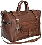 "Gusti Leder nature ""Mason"" Genuine Leather Travel Luggage Holdall Weekend Overnight Bag Leisure Bag Sports Gym Bag Duffel Bag Unisex R10"