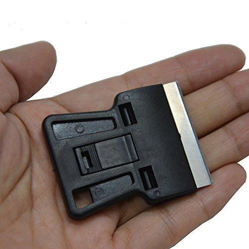 Sécurité Ehdis® Peinture Scraper Mini Grattoir avec 10 supplémentaires de 1,5 pouce One-avivés haute teneur en carbone Lames de rasoir pour Windows Film Install, Car Home Tinting