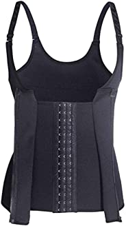 Women Waist Trainer Corset Zipper Vest Body Shaper Cincher Tank Top Waist Trimmer Trainer Belt Sauna Neoprene Workout Corset