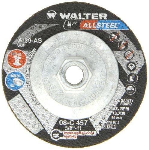 walter-allsteel-versatile-grinding-wheel-type-27-threaded-hole-aluminum-oxide-4-1-2-diameter-1-8-thi