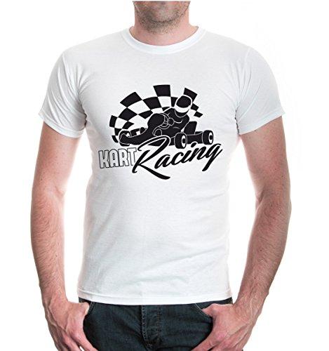 buXsbaum® T-Shirt Kart Racing White-Black