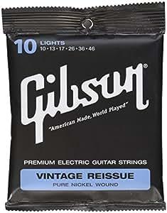 Gibson Gear SEG-VR10 Vintage reissue Cordes pour Guitare électrique Léger 10-46