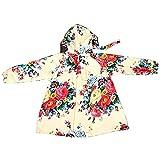 Regenmantel Floral Reißverschluss mit Kapuze Regenkleidung Student Mädchen Poncho (größe : XL)