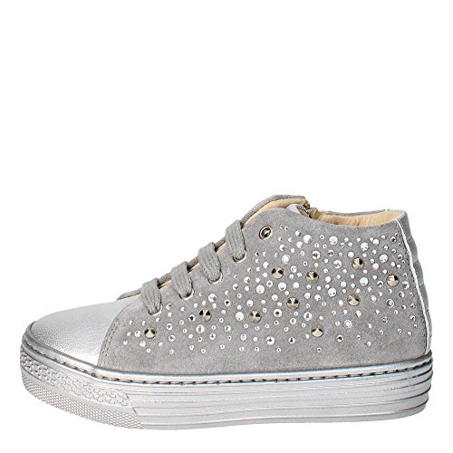 Florens E9884 Sneakers Bambina Camoscio Grigio Grigio 28