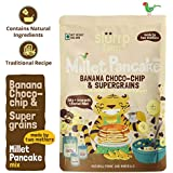 Slurrp Farm Millet Pancake Mix, Banana Choco-chip and Supergrains, 150g