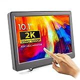 Touchscreen Monitor - ELECROW 10,1 Zoll 2K USB Portable Monitor IPS Bildschirm Tragbar 2560×1600 Full-HD Tragbarer Display mit USB-C/Typ-C HDMI für Raspberry Pi 4B 3B+, PC, Xbox, PS4 usw