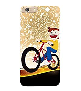 Beautiful Bicycle Raid 3D Hard Polycarbonate Designer Back Case Cover for Micromax Canvas Knight 2 E471