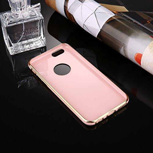 Phone case & Hülle Für iPhone 6 / 6s, Galvanisieren Soft TPU Schutzhülle ( Color : Pink ) Pink