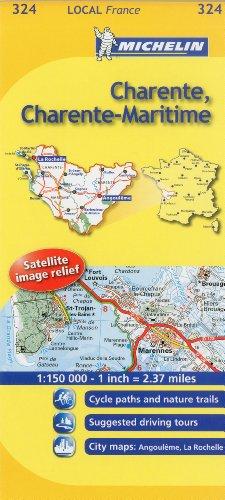 Charente, Charente-Maritime Michelin Local Map 324 (Michelin Local Maps)
