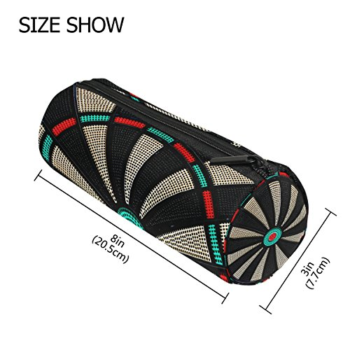 Bleistift Fall Zylinder Form Halter Vintage Spiel Darts Board Rad Kugelschreiber Totenkopf SKULL PEN Stationery Tasche Tasche mit Reißverschluss Make-up -