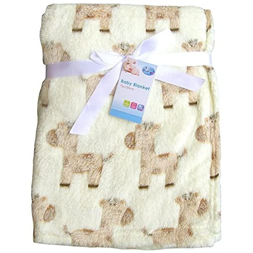 Luxury-Soft-Fleece-Baby-Blanket-in-Cute-Teddy-with-Star-Design-75-x-100CM-for-Babies-from-Newborn