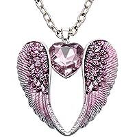 Loveangel Jewellery Guardian Angel Wing Heart Crystal Dangle Earrings For Women aC0F4