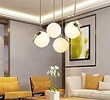 forma de bola Lámpara colgante lámpara de techo de cristal abatible hecho a mano marco de hierro fuente de luz LED Paster 220V