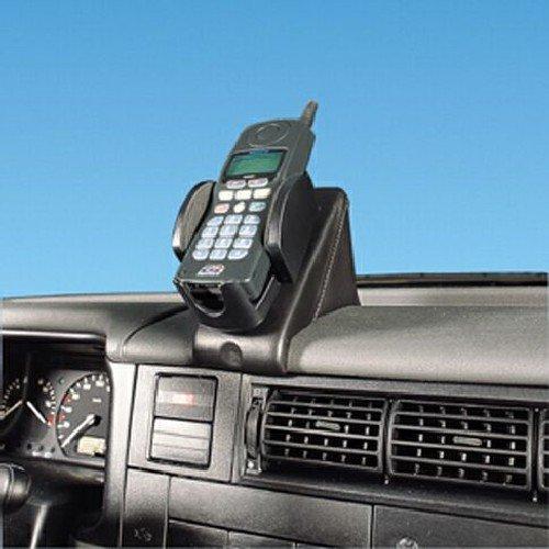 T4 Halterung (KUDA 096071 Halterung Echtleder platingrau (9044) für VW Bus T4* (universal) ab 08/1990 bis 03/2003)