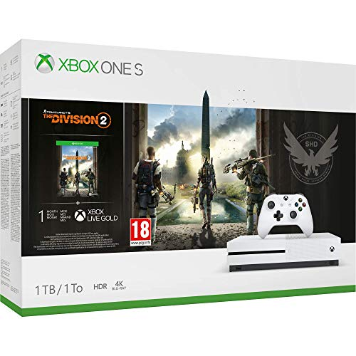Xbox One S 1TB Console - Tom Clancys The Division 2 Bundle Xbox One