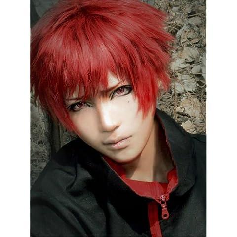 COSPLAZA traje de cosplay pelucas corto rojo Halloween Full libre de pelo con tapa Sabaku no Gaara Akashi