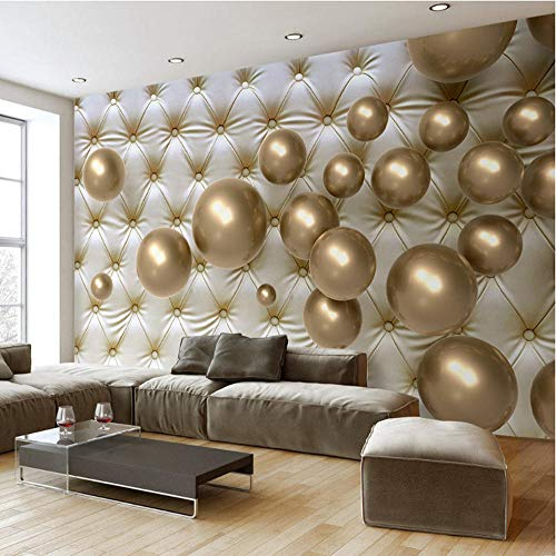 Benutzerdefinierte jeder Größe 3D Wallpaper Moderne 3D Stereoscopic Golden Ball Soft Pack Hintergrund Große Wandmalerei Wohnzimmer Schlafzimmer Wandbild