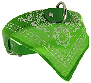 collier cuir bandana foulard chien 42,5cm rock rockabilly pitbull