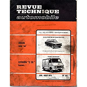 REVUE TECHNIQUE AUTOMOBILE N° 347 CITROEN C 35 ESSENCE 1985 CM3