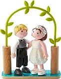 HABA 303165 - Little Friends – Brautpaar   Hübsche Minipuppen ab 3 Jahren   Strapazierfähige Biegepuppen aus Kunststoff für lange Spielfreude   Als Hochzeitsdeko geeignet