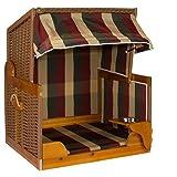 Möbelcreative Hunde Katzen Strandkorb in Burgund Natur Grün, Tier-Bett mit Wasser-NAPF, Korb aus Poly-Rattan Natur, Hundehütte für Haus und Garten